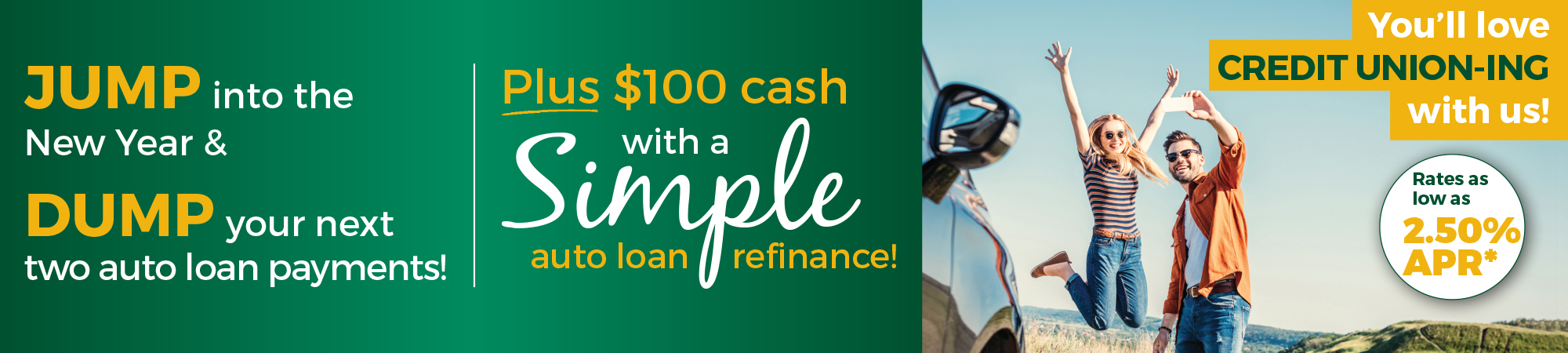 new year jump & dump auto loan