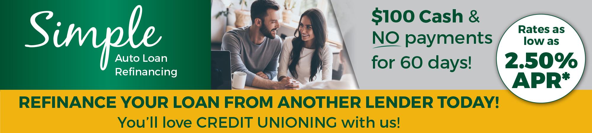 Simple Auto Loan Refinancing