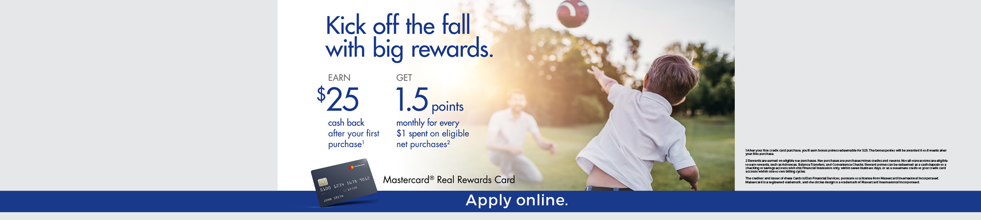 4th Qtr Credit Card Promo