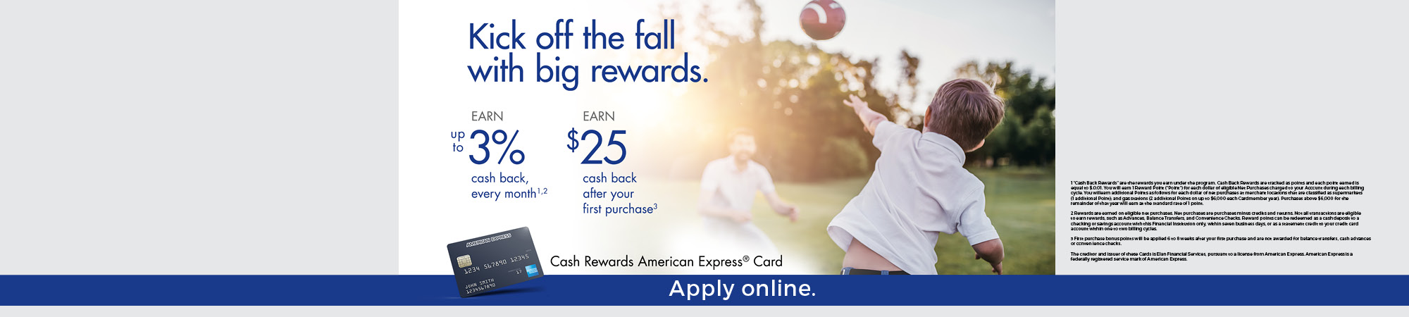4th Qtr Credit Card Promo
